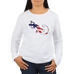 Gecko Patriotic Women's Long Sleeve T-Shirt