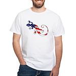 Gecko Patriotic White T-Shirt