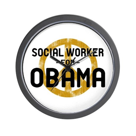 Social Worker for Obama Wall Clock