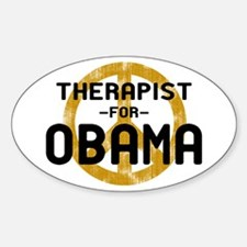 Therapist for Obama Oval Decal