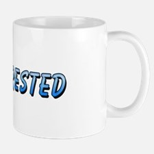 """Blue """"Not Interested"""" Mug"""