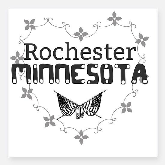 "Cute Rochester Square Car Magnet 3"" x 3"""