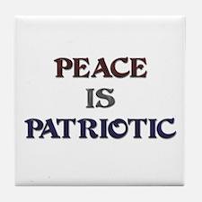 Peace is Patriotic Tile Coaster