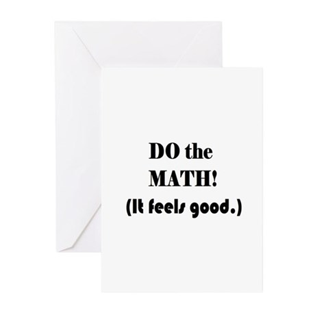 DO the MATH! (It feels good. Greeting Cards (Pk of