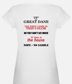 Great Dane Walking bk prnt Shirt