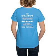 Great Dane Walking bk prnt Tee