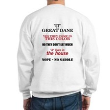 Great Dane Walking bk prnt Sweatshirt