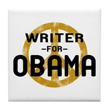Writer for Obama Tile Coaster
