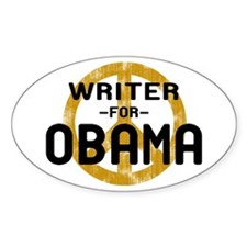 Writer for Obama Oval Decal