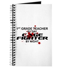 1st Grde Tchr Cage Fighter by Night Journal