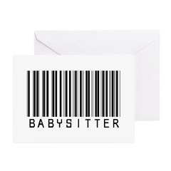 Babysitter Barcode Greeting Cards (Pk of 10)