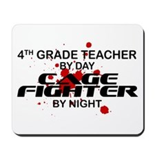 4th Grde Tchr Cage Fighter by Night Mousepad