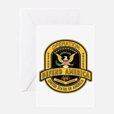 Operation Defend America Greeting Card