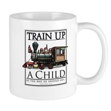 Train Up a Child Small Mug