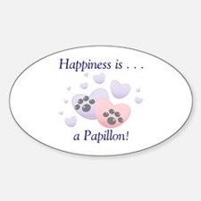 Happiness is . . . a Papillon Oval Decal