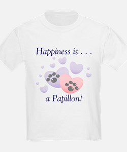 Happiness is . . . a Papillon Kids T-Shirt