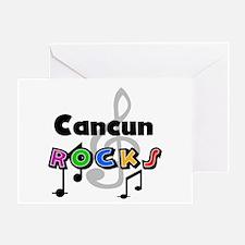 Cancun Rocks Greeting Card