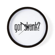 Got Skunk? Wall Clock