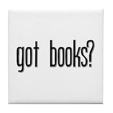 Got Books? Tile Coaster