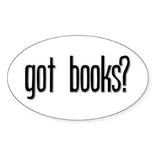 Got Books? Oval Decal
