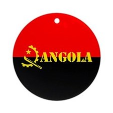 Angola Flag Ornament (Round)