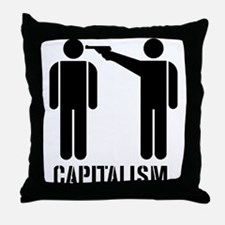 Capitalism Throw Pillow