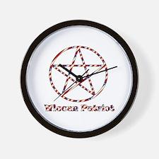 Wiccan Patriot Wall Clock