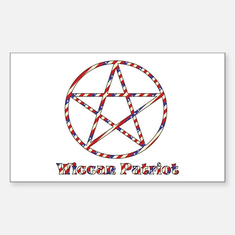 Wiccan Patriot Rectangle Sticker 50 pk)