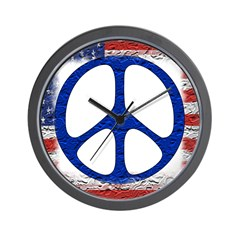 Tattered Flag of Peace Wall Clock