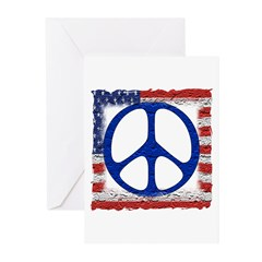Tattered Flag of Peace Greeting Cards (Pk of 20)