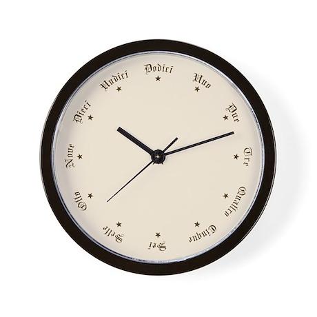 Quaint Wall Clock with Italian Numbers