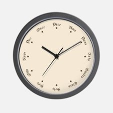Quaint Wall Clock with Portuguese Numbers