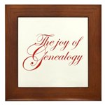 Joy Of Genealogy Framed Tile
