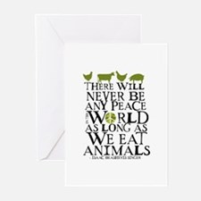 Never Be Peace Greeting Cards (Pk of 10)
