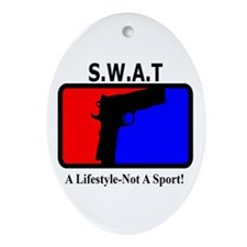SWAT 1911 Lifestyle Oval Ornament