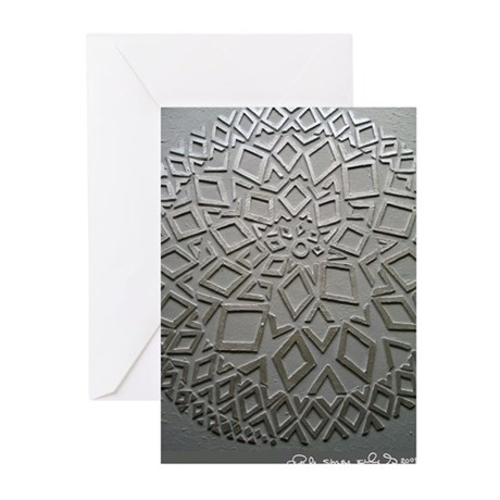 diamond spiral Greeting Cards