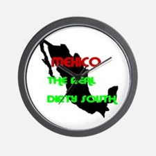 mexico dirty south Wall Clock