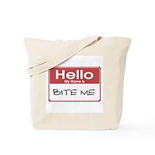 Bite Me Name Tag Tote Bag