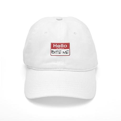 Bite Me Name Tag Cap