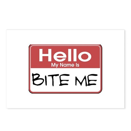 Bite Me Name Tag Postcards (Package of 8)