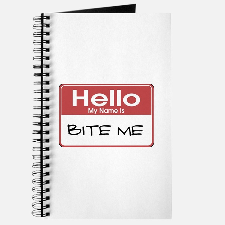 Bite Me Name Tag Journal