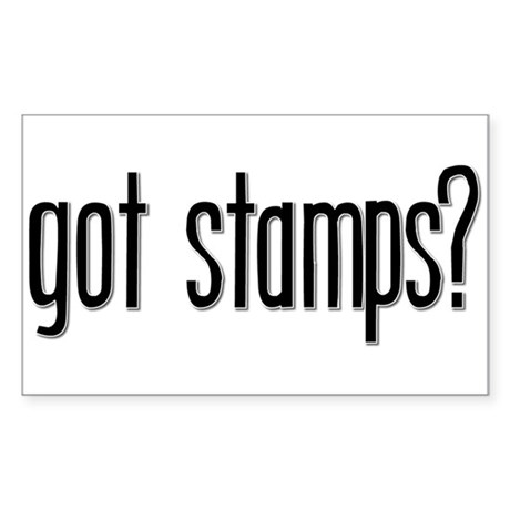 Got Stamps? Rectangle Sticker