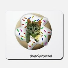 A Kitten and A Donut Mousepad