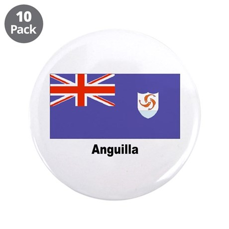 """Anguilla Flag 3.5"""" Button (10 pack)"""