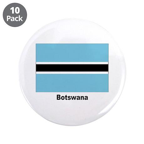 "Botswana Flag 3.5"" Button (10 pack)"