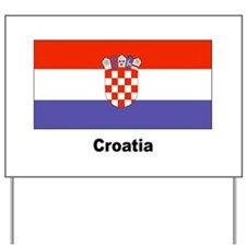 Croatia Croatian Flag Yard Sign