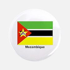 """Mozambique Flag 3.5"""" Button"""