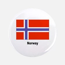 """Norway Flag 3.5"""" Button"""