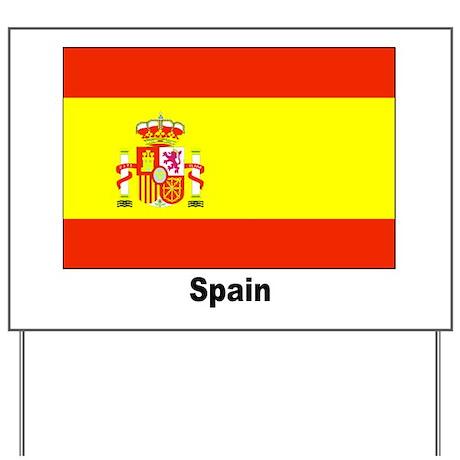 spain spanish flag yard sign by w2arts