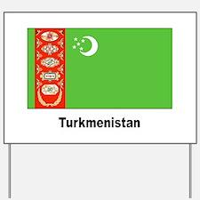 Turkmenistan Flag Yard Sign